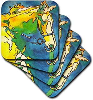 3dRose CST_46773_2 Horse and Bridle-Bridle, Equestrian, Equestrianism, Headstall, Horse, Horse Owner, Horse Riding-Soft Co...