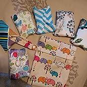 6pcs 10 pulgadas paño de bambú lavable almohadillas de Menstrual compresa + 1pc mini bolsa para ropa húmeda