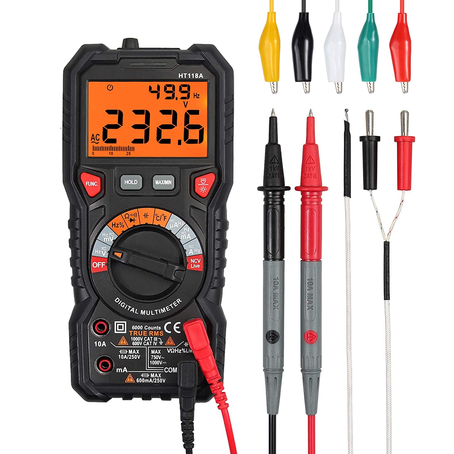 CAMWAY Digital Multimeter Max 60% OFF gift 6000Count Auto-Ranging TRMS