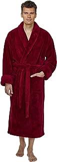 Arus Men's Shawl Fleece Bathrobe Turkish Soft Plush Robe