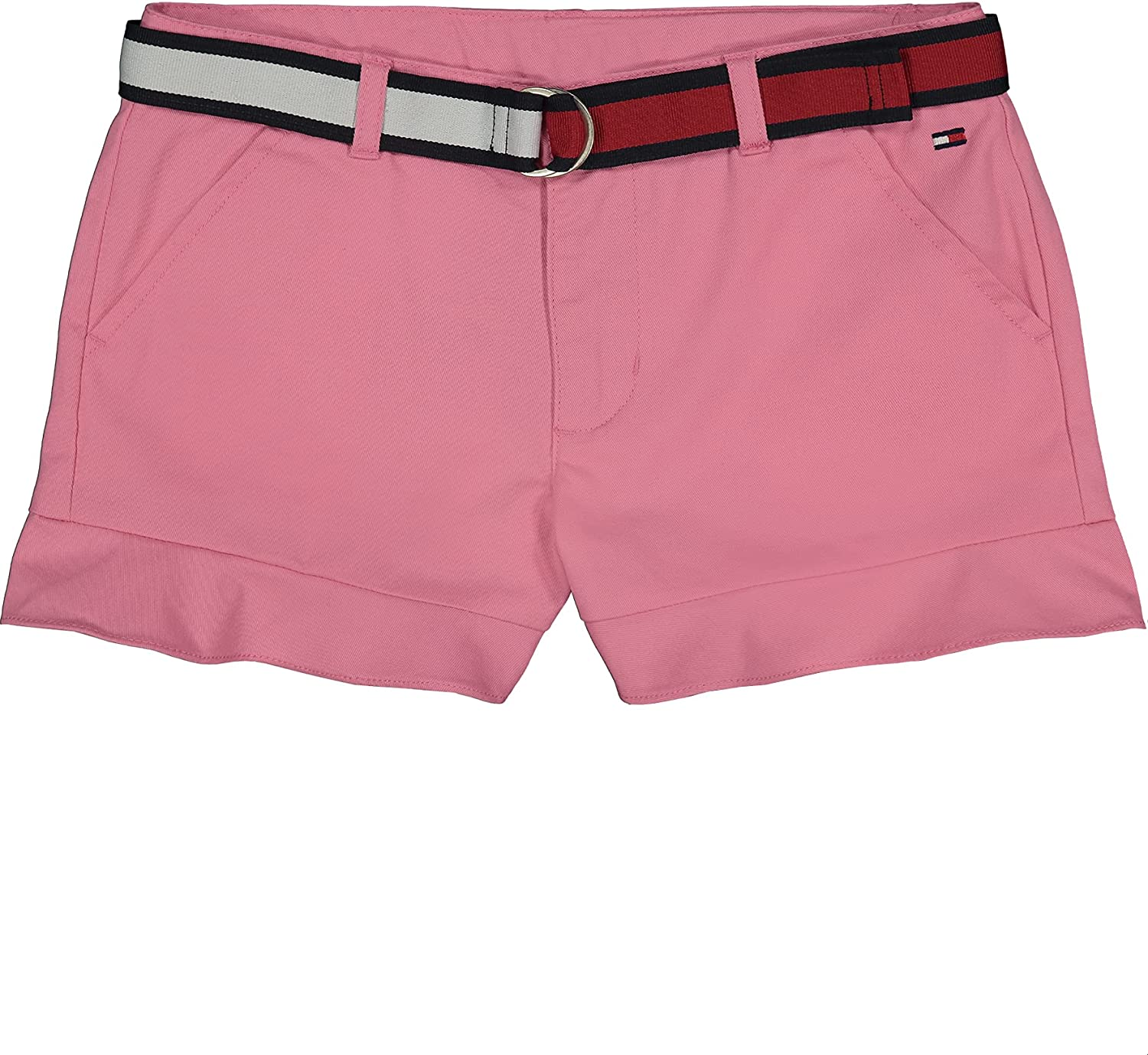 Tommy Hilfiger Girls 5-Pocket Belted famous Max 48% OFF Embro Ruffle Trim Shorts