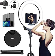 "AFI 16"" Selfie Ring Light with 3 Color Modes 79"" Extendable Tripod Stand Phone Camera Holder, 320 Bulbs 6500K 10 Brightnes..."