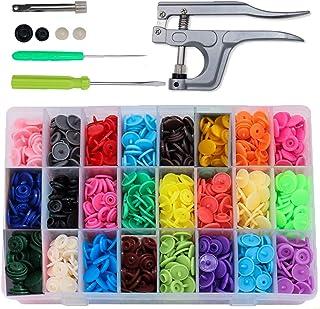 Bouton Pressions Plastiques,Pression Kit de Pince en Métal Pince (T3, T5, T8) pour Bricolage, Tous Vêtements, Accessoires ...