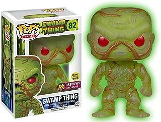Funko Swamp Thing [Glow-in-Dark] (PX Exclusive) POP! Heroes x DC Universe Vinyl Figure + 1 Free Trading Card Bundle (07070)