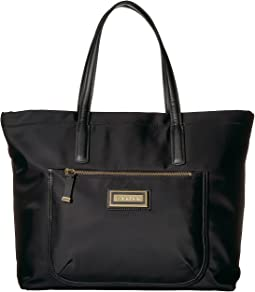 Calvin Klein - Key Item Nylon Top Zip East/West Front Pocket Tote