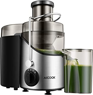 Juicer, Juice Extractor, Aicook Juicer Machine with 3'' Wide Mouth, 3 Speed Centrifugal Juicer for Fruits and Vegs, with N...