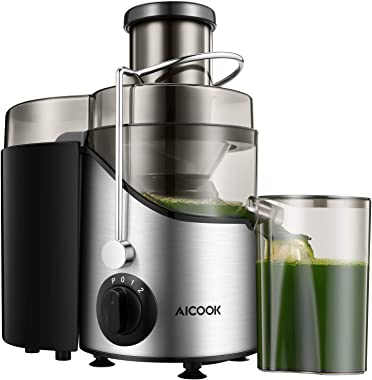 Juicer, Juice Extractor, Aicook Juicer Machine with 3'' Wide Mouth, 3 Speed Centrifugal Juicer for Fruits and Vegs, w
