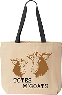 BeeGeeTees Totes M'Goats Funny Cotton Canvas Tote Bag Reusable