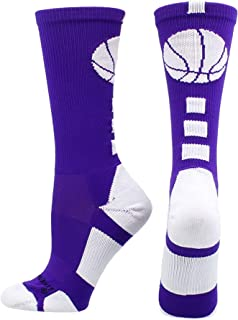 Basketball Socks with Basketball Logo Athletic Crew Socks – Made in The USA