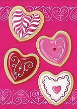 Toland Home Garden Heart Cookies 12.5 x 18 Inch Decorative Valentine Cookie Dessert Garden Flag