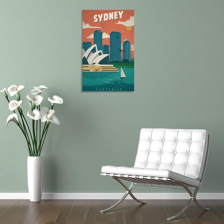 para decoraci/ón del hogar dise/ño retro enmarcado 30 x 45 cm P/óster de Sydney con impresi/ón de pel/ícula