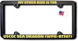 James E. Reid Design My Other Ride USCGC SEA DRAGON (WPB-87367) License Frame w/METALLIC GOLD TEXT