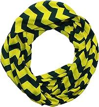 Dark Green & Yellow Chevron Infinity Scarf