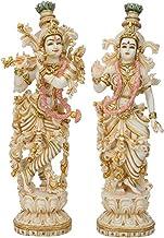 Beautiful Radha-Krishna Statue,15inches, Marble Dust Radha Krishna Sculpture, Goddess Radha Lord Krishna, Hindu Divine Couple