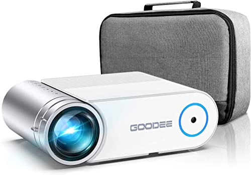 "Projector, GooDee 2021 G500 Video Projector 5500L, 1080P and 200"" Supported Portable Movie Projector with 50,000 Hrs ..."