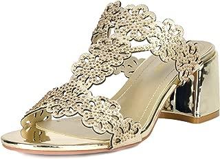 Women's Block Slides Heeled Sandals