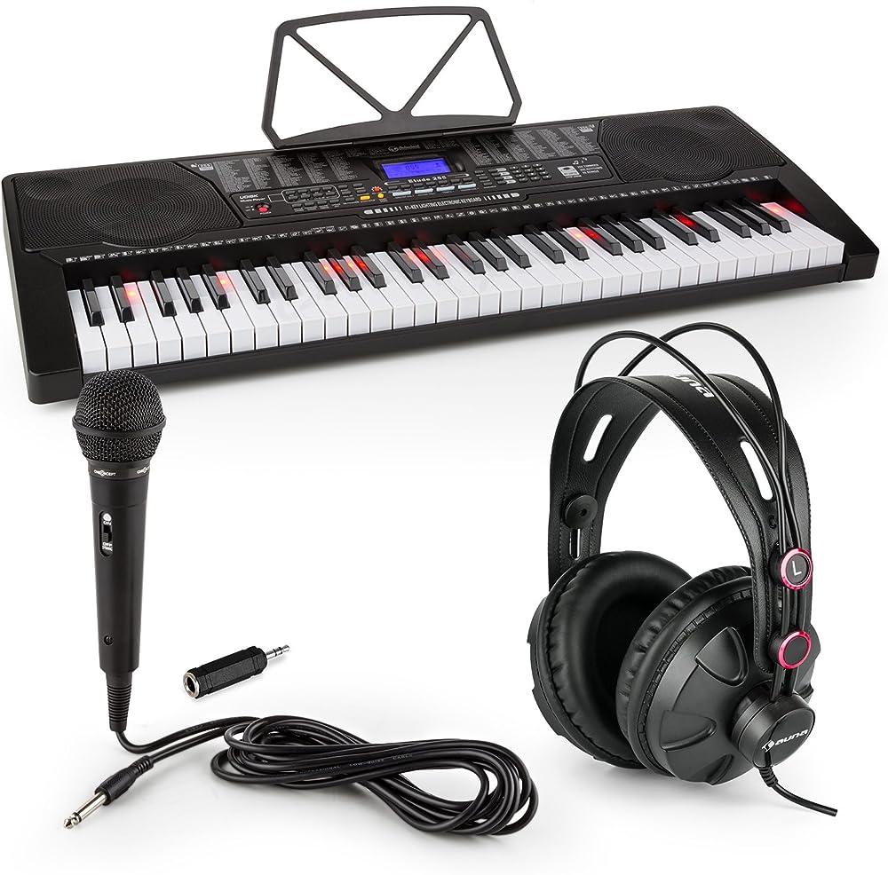 Schubert etude 225 usb 61 tasti  set tastiera elettronica e cuffie professionali e microfono canto PL-30883-31457-2639