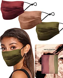 Beverly Hills Silk Mask in Collection by KARIZMA 19 Momme 100% Mulberry Silk 6A Grade Fabric Face Masks