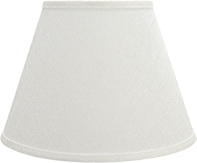 White Linen Drum Lamp Shade 10x12x8 Spider Brentwood