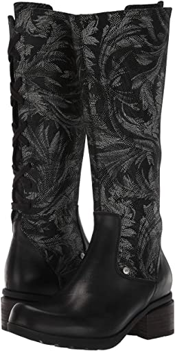 Black Vegi Leather/Palm Suede