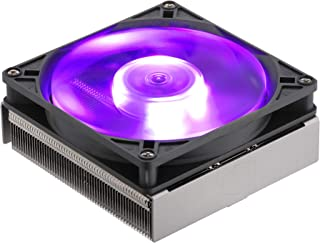 Cooler Master MasterAir G200P Low-Profile 2 Heat Pipe Cooler with RGB Fan - Silver Black with RGB LEDs- MAP-G2PN-126PC-R1