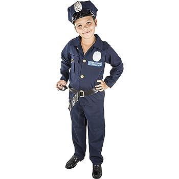 Costumizate! Disfraz de Policia Talla 5-6 Especial para niños ...