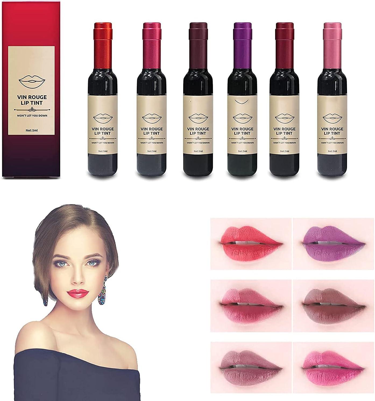 Wine Liquid Lipstick Vin low-pricing Rouge Direct sale of manufacturer Colors 6 Lip Tint