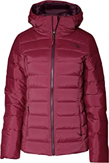 Stretch Down Hooded Puffer Jacket Women's Rumba Red