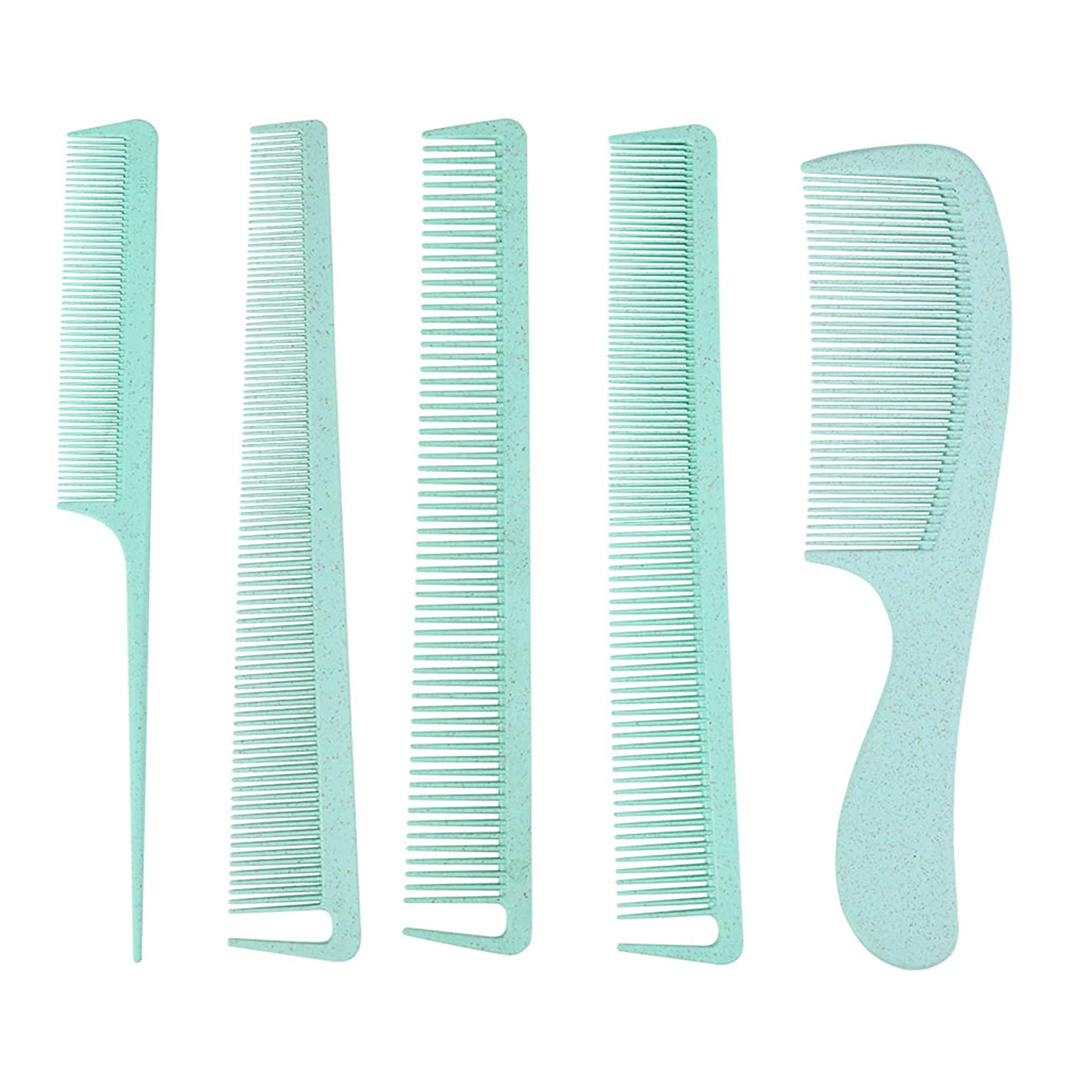 Comb Set of 5 Wheat Deluxe Straw and Women Fashionable Hair for Combs Men