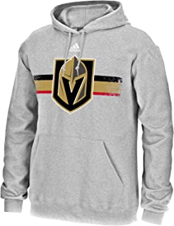adidas Vegas Golden Knights NHL Men's Grey Home Ice Advantage Team Logo Pullover Hoodie Fleece