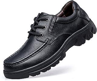 ailishabroy Men's Shoes Leather Low-Top Lace Up Oxfords