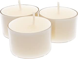 CandleNScent 8Hr Paraffin Free Tea Light Candles in Clear Acrylic Cup - Set of 30 8 Hour Extended Burn Time tealights