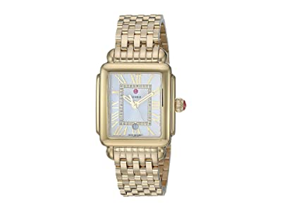 Michele Deco Madison Mid Gold Plated MWW06G000014 (Gold Plated/Silver/White Sunray Dial) Watches