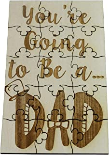 You're Going to Be a Dad - 15 Piece Basswood Jigsaw Puzzle, Surprise Pregnancy Announcement