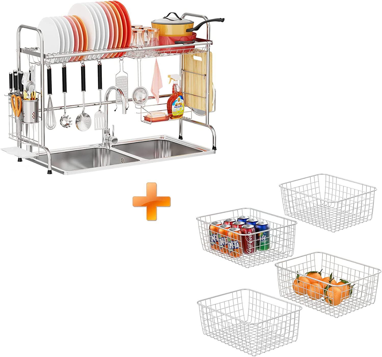 Quantity limited Over The Sink Dish Drying Rack Rac Wire Basket security iSPECLE and