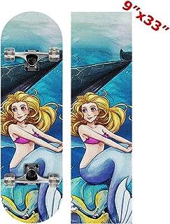 Anneunique Custom Ocean Shark Mermaid Skateboard Grip Tape Sheet 9