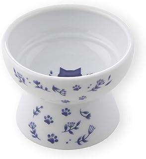 【猫壱】ハッピーダイニング ハッピーおやつ皿(ネイビー) 猫 子猫 猫用 食器 少量 おやつ ちゅーる 陶器 磁器 電子レンジ対応 食洗機対応 かわいい
