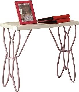 Acme Furniture 30538 Priya II Nightstand, White & Light Purple