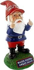Gnometastic Make Gnomes Great Again Garden Gnome Statue / Funny Lawn Gnome and Garden Decoration, 9.5 Inches