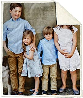 NICTIME Customized Fleece Blanket Throw Add Your Picture Personalized Print Blanket for Adults Kids(50x60inches)