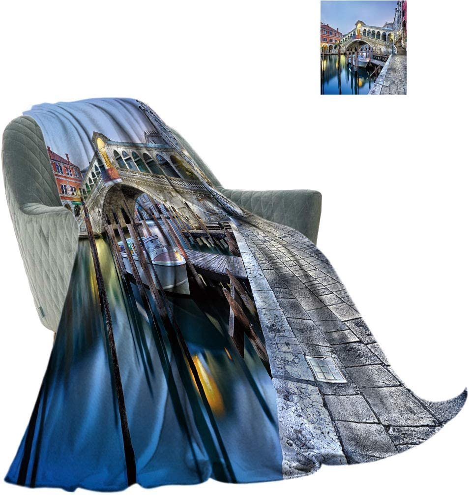 Yahonwa Venice Large Warm Cheap Blanket Super-cheap Morning Canal Twilight Grand
