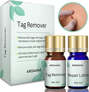 Aroamas Advanced Mole and Skin Tag Remover and Repair Lotion Set, for Professional Use Only