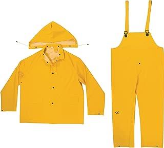 CLC Custom Leathercraft Rain Wear R101M .35MM 3-Piece Rain Suit Yellow, Medium