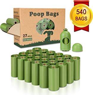 Yingdelai Dog Poop Bag(540 Counts), Biodegradable Dog Waste Bags with 1 Dispenser, eco-Friendly Leak-Proof Pet Waste Bags for Doggy