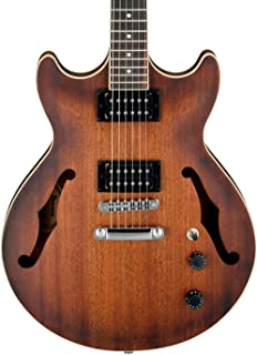 Ibanez Artcore 6 String Semi-Hollow-Body Electric Guitar, Right, Tobacco Flat (AM53TF)