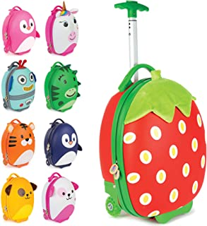 boppi Tiny Trekker Kids Cabin Bag Vacation Luggage Cases, Strawberry (Red) - Does Not Apply