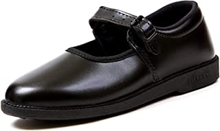Leather Land Black School Shoes fo Girl's