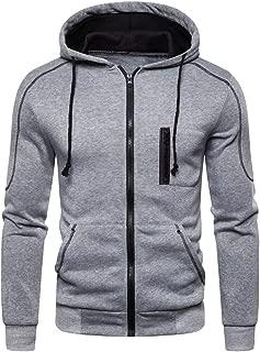 Swyss Men's Colorblock Long Sleeve Full-Zip Bomber Jacket Hooded Varsity Jacket Outwear