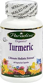 Paradise Herbs Essential Turmeric - 60 Vegetarian Capsules - - Gluten Free - Dairy Free - Yeast Free - Wheat Free-Vegan