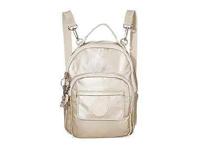 Kipling Alber 3-in-1 Convertible Mini Bag Backpack (Cloud Metal) Backpack Bags